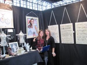 Glena and Bunny - New York booth Jan 2010
